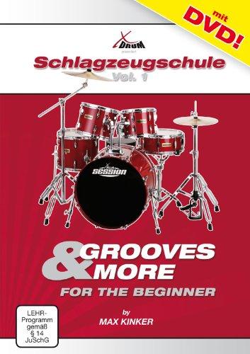 Max Kinker - Schlagzeugschule für Anfänger (inkl. Video-DVD, Format DIN A 4, 16 Seiten)