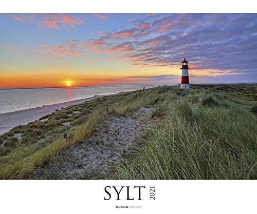 Sylt 2021 - Bild-Kalender XXL 60x50 cm - Nordsee - Landschaftskalender - Natur-Kalender - Wand-Kalender - Deutschland - Alpha Edition