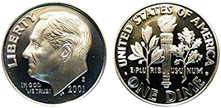 2001 S Roosevelt Proof Silver Dime 10c DCAM US Mint