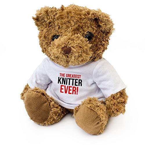 London Teddy Bears Oso de Peluche con Texto en inglés «Greatest Knitter Ever»