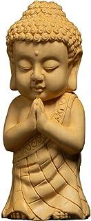 彫刻小さな仏釈迦牟尼ツゲの木風水仏工芸品ホームスタチュー