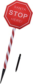 Merry Christmas Santa Please Stop Here Sign Solar Light Garden Decoration Garden Stake with Light