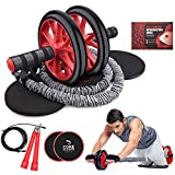 Kamileo Ab Roller Wheel, 5-in-1 Ab Roller Kit with Knee Pad, Resistance Bands,...