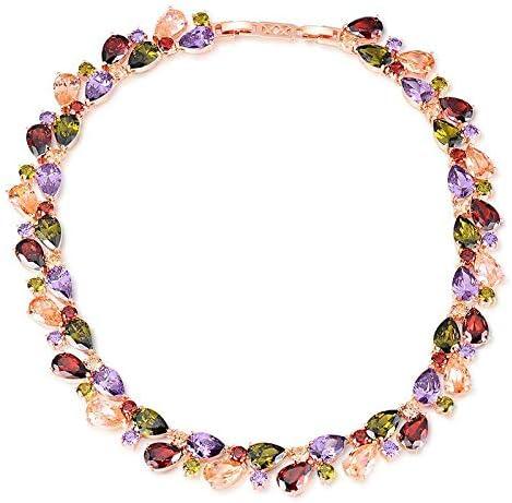 YouBella Jewellery Stylish AAA Swiss Zircon Multicolor Necklace Jewellery for Women and Girls