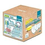 FLOPP - Lavavajillas Ecológico, | Cápsulas Lavavajillas Eco Brillo Envase Biodegradable (110 Capsulas). Capsulas para Lavavajillas Eco Limpia sin Ensuciar el Planeta.