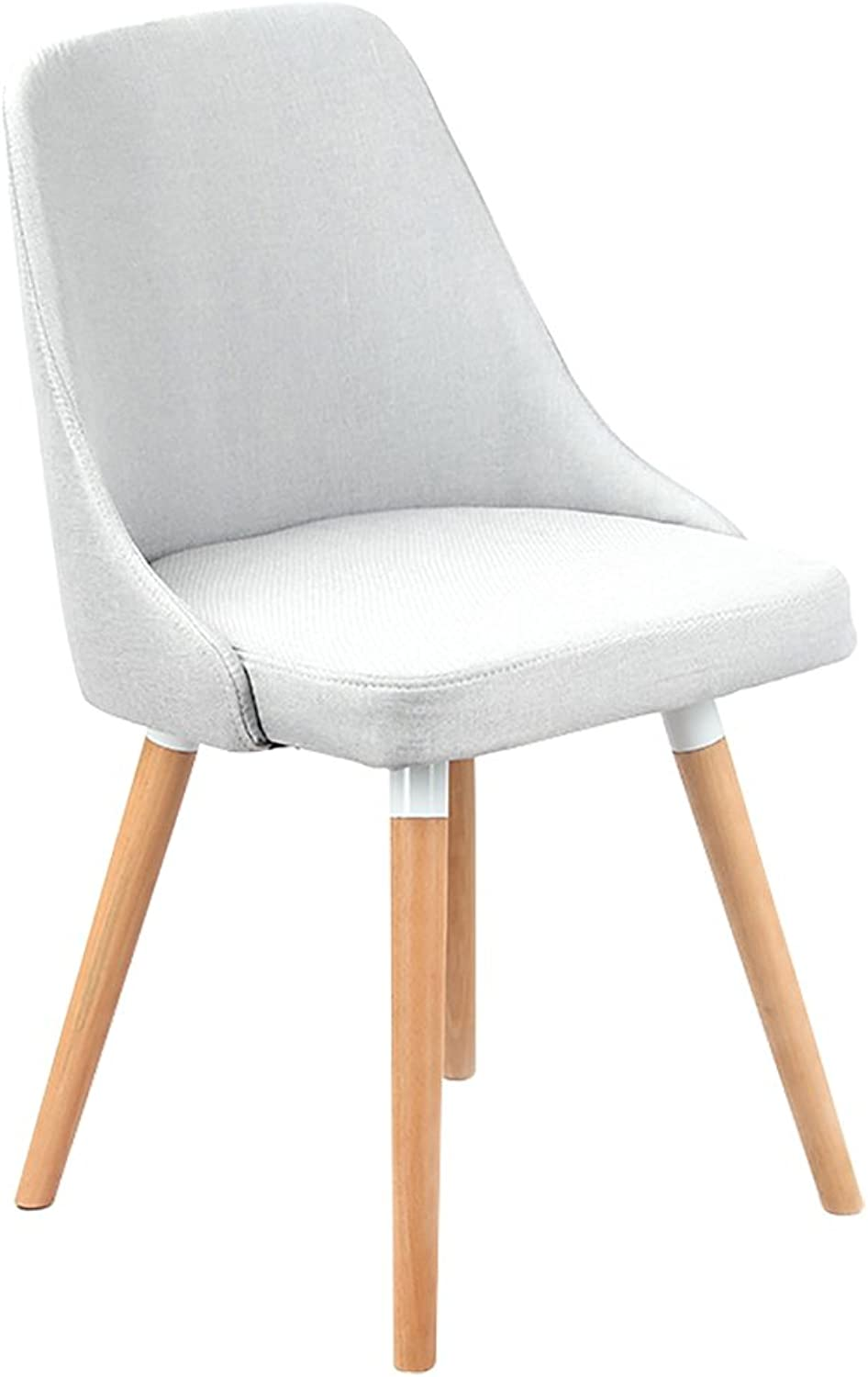 ALUS- Solid Wood Backrest Chair,Nordic Creative Backrest Solid Wood Legs Chairs with Cushioned Pad Contemporary Designer for Office Lounge Dining Kitchen (color   Light Grey, Size   42cmX42cmX45cm)