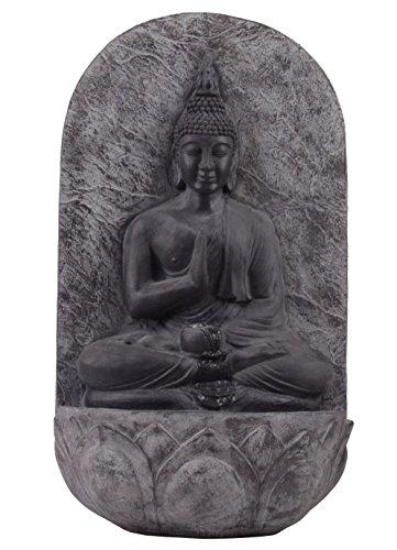 Großer Buddha Brunnen - mit Pumpe - 68cm - Wandbrunnen Deko Zimmerbrunnen Wasserfall