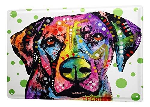 LEotiE SINCE 2004 Plaque en Métal Métallique Poster Mural tin Sign Ravtive Pratique Vétérinaire Chien coloré