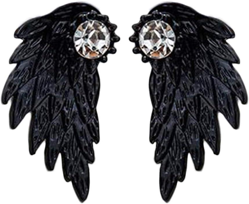 HEART SPEAKER Women Popular Earrings Vintage Wings Max 58% OFF Angel Pattern Rhines