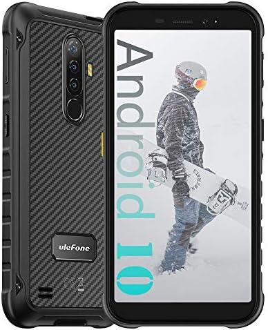 "Ulefone Armor X8 Unlocked Rugged Smartphone Android 10 Octa-core 4GB + 64GB Waterproof Cell Phone, 13MP Triple Rear Camera, 5.7"" HD+ Display 5080mAh Battery, Global Dual SIM 4G Rugged Phone -Black"