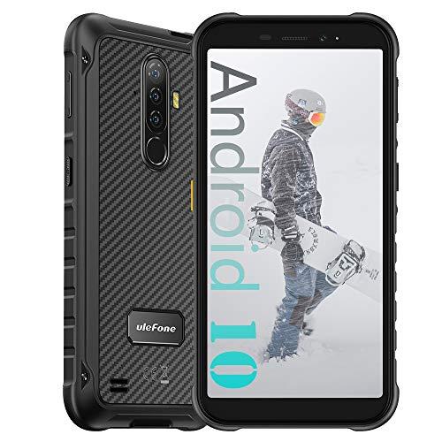 Ulefone Armor X8 (2020) 4G Smartphones Portable Incassable Android 10, Écran 5.7 Pouces HD+, 64Go + 4Go Batterie 5080mAh, Double SIM FM Face ID NFC Smartphone Pas Cher Mode sous-Noir