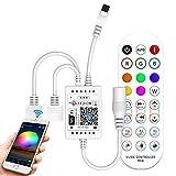Controller di striscia LED WiFi RGB con telecomando musicale IR 24 pulsanti per strisce 5050, 3528 Stripe, compatibile con Alexa, Google Assistant, Android/iOS,controllato da WiFi/App