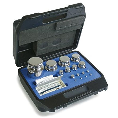 Core - 324 074 - F1 juego de pesas en estuche de plástico - 324-074, 1 g, 2 kg acero inoxidable