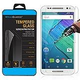 MagicGuardz, Made for Motorola Moto X Pure Edition (Moto X Style), Premium Real Tempered Glass Screen Protector Shield, Retail Box