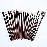 Lugj - Brochas de maquillaje para principiantes, sintéticas, portátiles, de viaje, para cejas, lápiz cosmético, herramienta para base, polvos, correctores, cepillo de limpieza de colorete