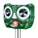 DANGZW Ultraschall Katzenschreck, Solarbetriebener Wasserdichter Ultraschall Tiervertreiber mit Batteriebetrieben und Blitz 5 Modus Einstellbar, Ultraschall Repeller für Katzen, Hunde, Vögel, Füchse