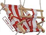 Babyschaukel Babyliegeschaukel Schaukelsitz Babysitz Babywippe Babyhängematte, Farbe:rot/weiss
