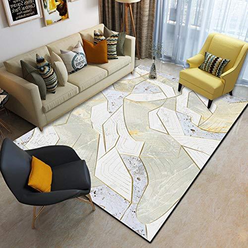Pgron Angesagten Look Pastell Teppich Mit Steinmuster Bedruckte rutschfeste Faser,pflegeleichter Wohnzimmer-Schlafzimmer-Teppich,150×200cm