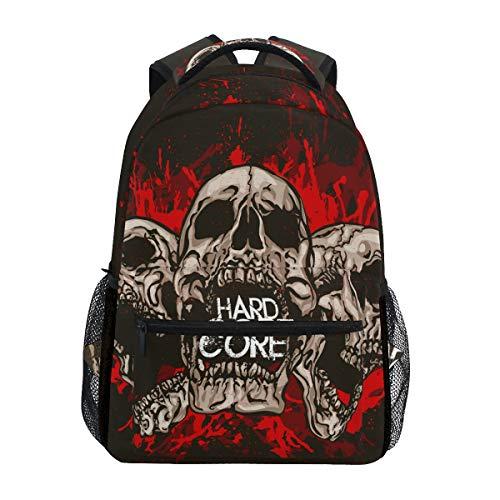 Casual Daypack Skull Hardcore Rucksack für Jungen und Mädchen Cute Rucksack Bag Outdoor
