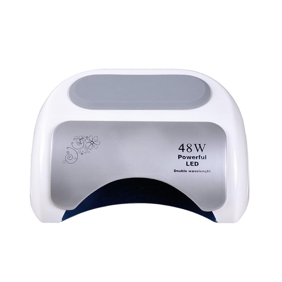 団結侵入つまらないNananail 48Wネイルドライヤー CCFL+ LEDネイルランプ 時間設定10s/30s/60s 速乾性 自動センサー付き