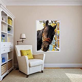 WonderlandWalls Horse in Window - Peel & Stick Removable Decal, Mural, Poster, Sticker (27
