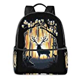 Deer God Master Of The Forest Student School Bag School Ciclismo Leisure Travel Zaino da campeggio