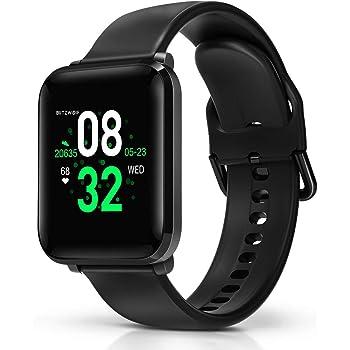 BlitzWolf Smartwatch, Orologio Intelligente Impermeabile IP68, 1,3 Pollici HD Schermo, Activity Tracker, con Cardiofrequenzimetro, Contapassi, Monitoraggio del Sonno, Orologio Sportivo da Uomo Donna