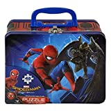 Spiderman 6039278 Homecoming 48pc Puzzle Inside Lunch Tin Box, 7.5' X 6' X 3', Red, Blue & Multi