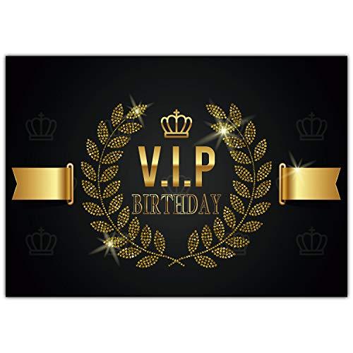 A4 XXL Geburtstagskarte V.I.P. BIRTHDAY mit Umschlag - edle VIP Klappkarte als Glückwunschkarte zum Geburtstag Karte für Mann Frau von BREITENWERK