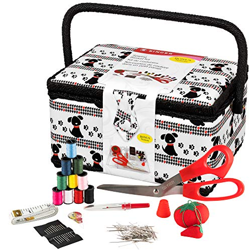 SINGER Sewing Basket with Notions - Pet Trax Puppy