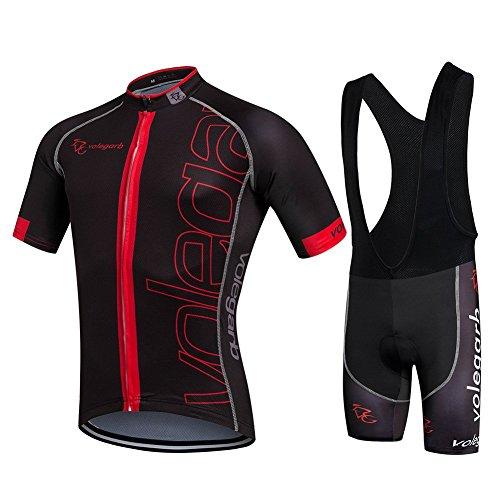Cornasee Ropa Ciclismo Verano para Hombre Ciclismo Maillot y Culotte Pantalones Cortos (Negro,XL)