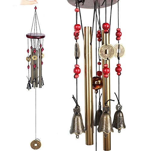 Home Garden Indoor Outdooe Decorative Metal Wind Chime Bells Chinese Coins