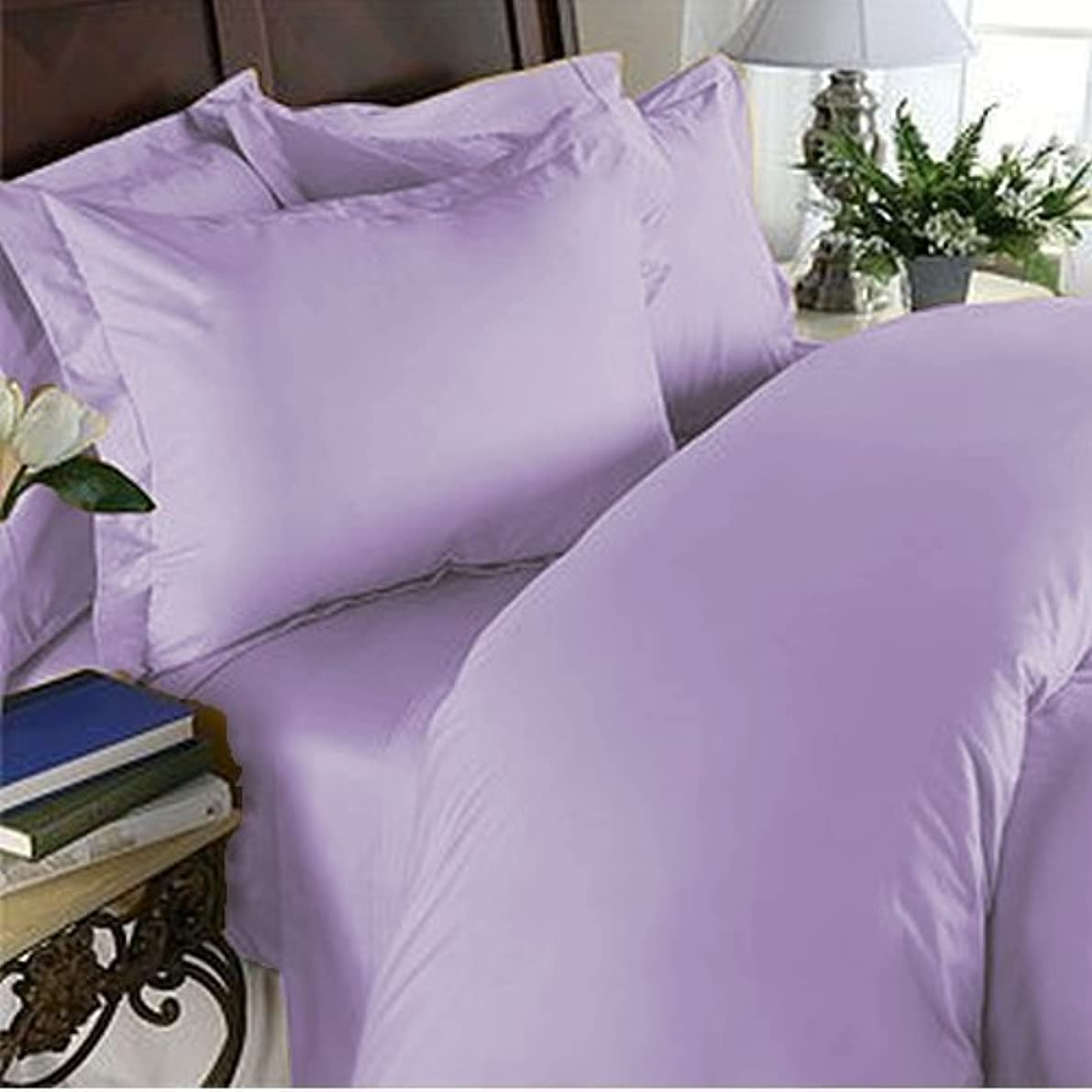 Elegant Comfort 1500 Thread Count Luxurious 100% Manufacturer Guaranteed Ultra Soft 2-Piece Pillowcase, Wrinkle & Fade Resistant, King Size - Lilac