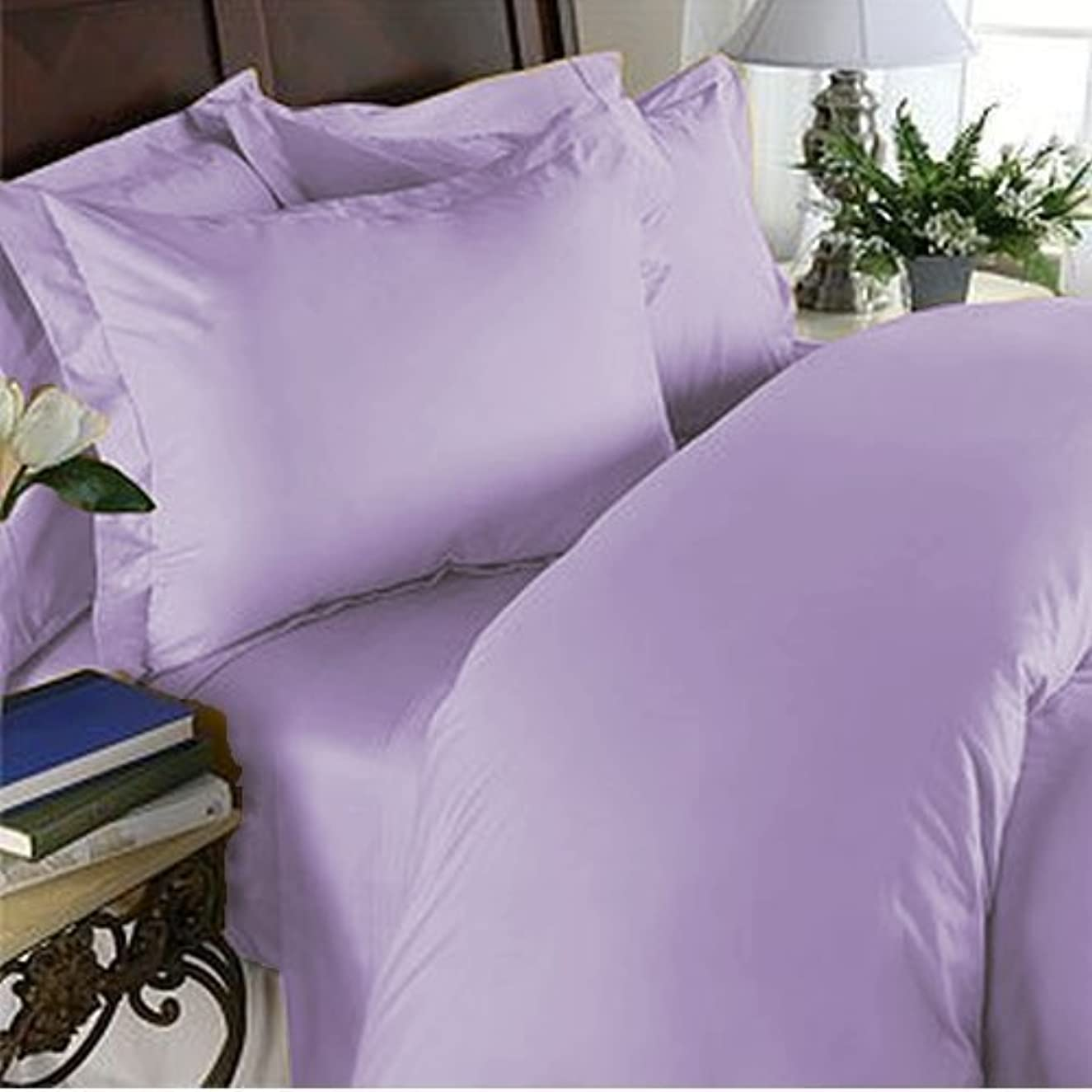 Elegant Comfort 1500 Thread Count Luxury Silky Soft Wrinkle & Fade Resistant 2 PCS Pillow Cases, King/California King,Lilac