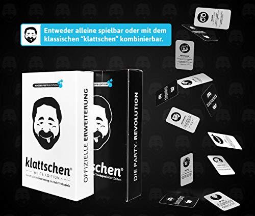 DENKRIESEN - klattschen® Doppelpack - klattschen & klattschen White Edition - Die wahrscheinlich besten Trinkspiele Aller Zeiten, Ausführung:wasserfeste Plastikkarten