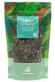 Mezcla océana orgánica de algas en copos