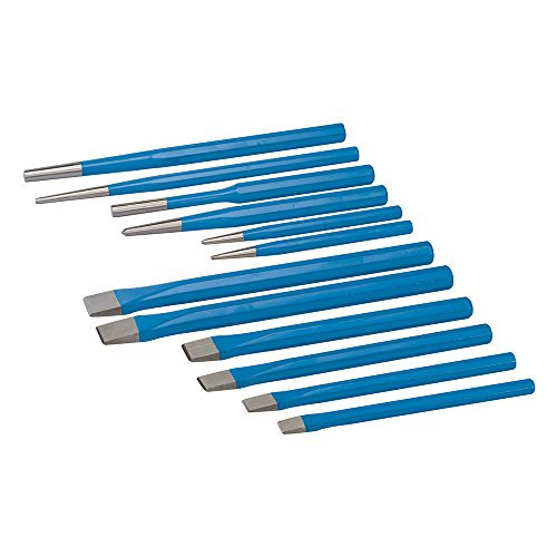 Silverline Tools PC05 - Cinceles y botadores, multicolor, 12