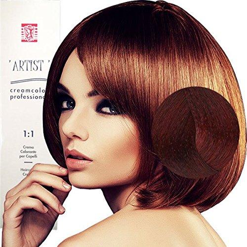 Coloration Professionnelle Pour Cheveux Châtain Claire Rouge Extreme avec Ammoniaque 5/55 Permanente 100ml Made in Italy