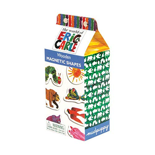 Mudpuppy The World of Eric Carle Wooden Magnetic Shapes, Great for Kids Age...