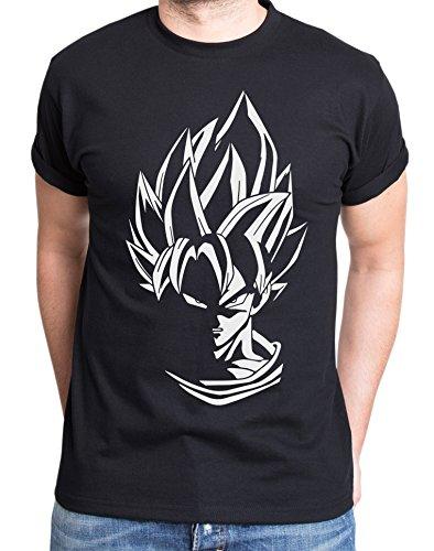 Super Son Goku T-Shirt pour Homme Dragon Master Son Ball Vegeta Turtle Roshi DB, Farbe2:Schwarz;Größe2:S
