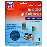 Rite Aid Pain Relief Hot & Cold Gel Sleeve for Knee/Ankle/Elbow - Medium   Ice Pack Therapy   Hot & Cold Compress for Pain Relief