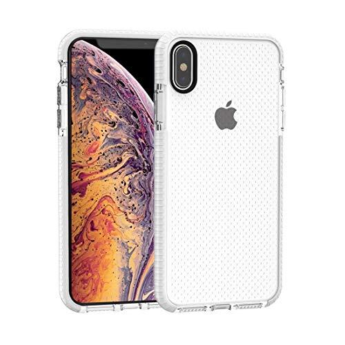 Funda Protectora de la Caja del teléfono para iPhone XS MAX, Textura de Baloncesto Anti-colisión TPU Caso (Color : White)