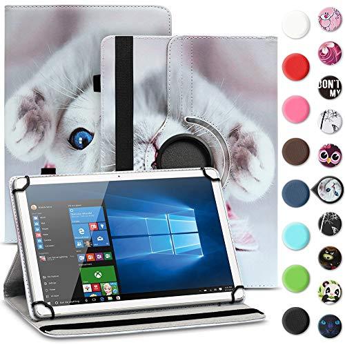 UC-Express Tablet Schutzhülle kompatibel für Archos 70 Xenon - Oxygen Tasche aus hochwertigem Kunstleder Hülle Standfunktion 360° Drehbar Cover Universal Case, Farben:Motiv 5