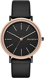 Skagen Women's Hald Watch in Rose Goldtone with Leather Strap