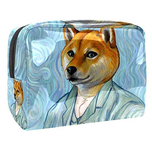 Grand sac de maquillage en PVC pour les cosmétiques de voyage Vincent Van Gogh Multicolore Couleur 1 18.5x7.5x13cm/7.3x3x5.1in