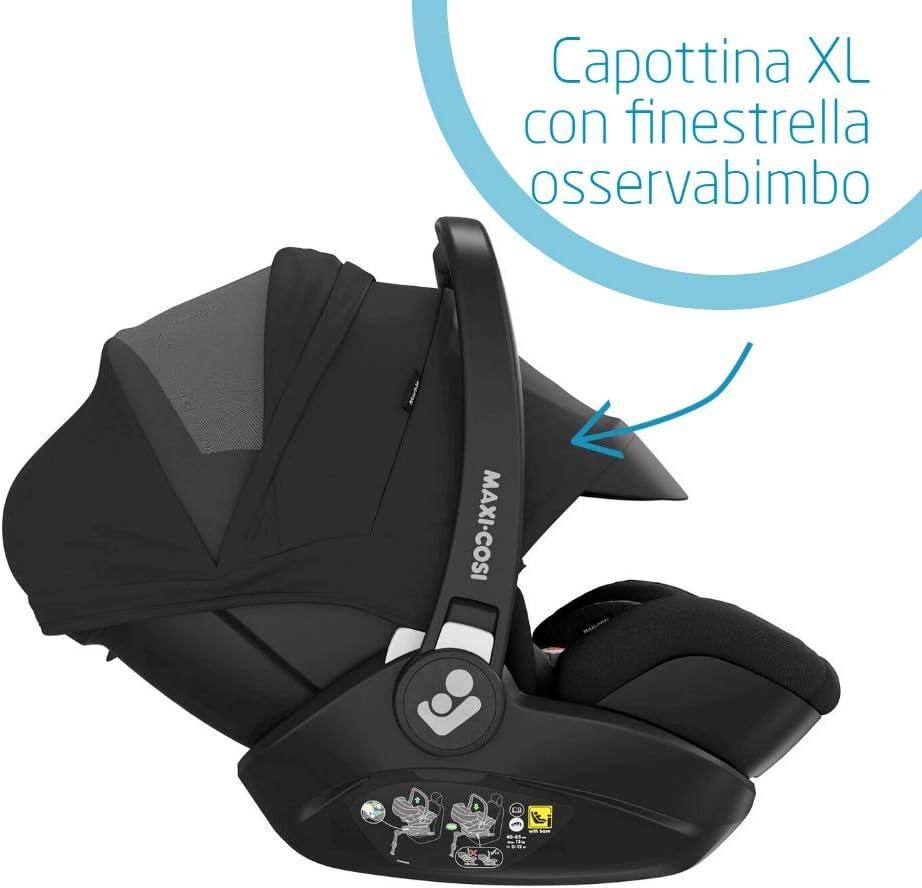 Maxi-Cosi Marble Seggiolino Auto Reclinabile Isofix con Base Isofix Inclusa per Neonati 0-13 mesi R129 i-Size 40-85 cm colore Grafite