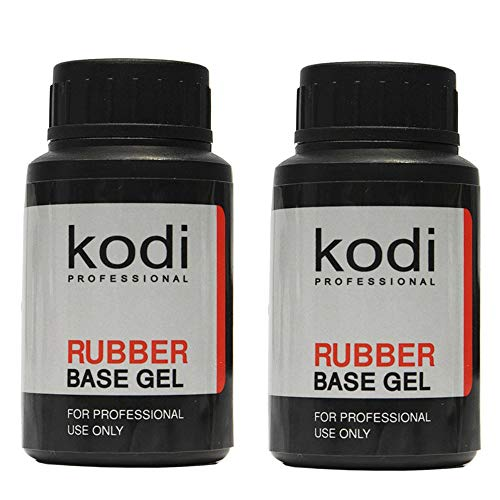 Kodi Professional SET 2 bottles Rubber Base 30ml. + Rubber Base 30ml. / 1.01 fl oz without brush Gel LED/UV Nail Polish Coat Soak Off Original