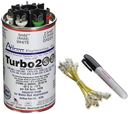 2 Pack Mars 12200 Turbo 200 Universal Dual Run Capacitor