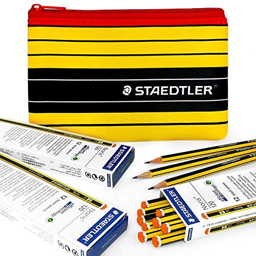 Staedtler - Noris 120-36 X 2B Premium Grafito Lápices y a Juego Staedtler Noris Estuche