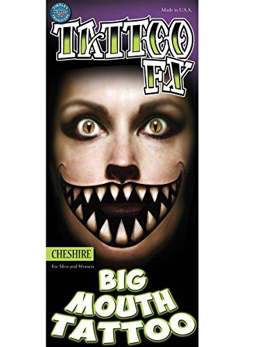 Epic Armoury MW-131274 Big Mouth Tatouage Temporaire Transfert Tatouage Temporaire Mixte Adulte